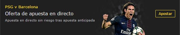 Apuesta sin riesgo PSG-FCBARCELONA