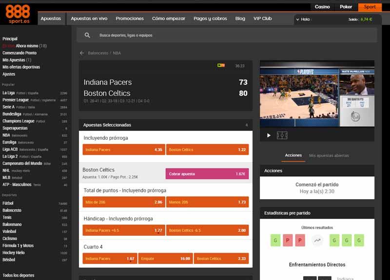 888 da la NBA a los usuarios